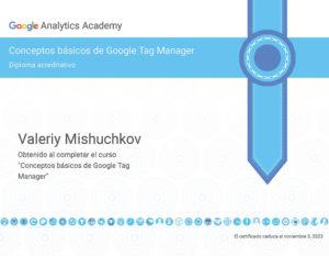 Diploma acreditativo Google